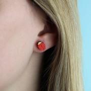 ladybird earrings wearing shot