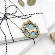 leaping deer necklace 2