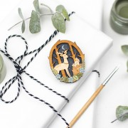 moonlit forest brooch