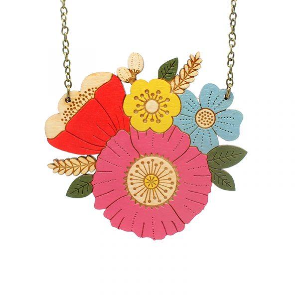 layla amber poppy posy necklace
