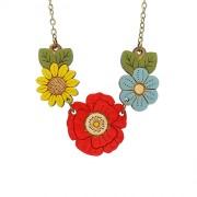 poppy wild flower necklace wb