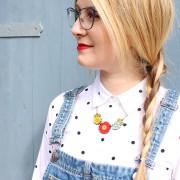 poppy wild flower necklace wearing 1