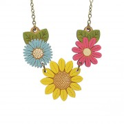 sunflower wild flower necklace wb
