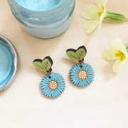 wild cornflower earrings making shot