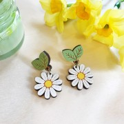 wild daisy drop earrings