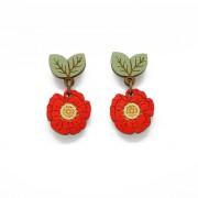 wild poppy drop earrings wb