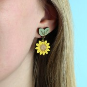 wild sunflower drop earrings-1