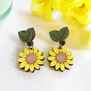 wild sunflower drop earrings