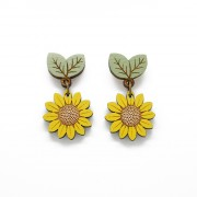 wild sunflower drop earrings wb