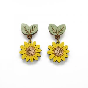 layla amber flower earrings