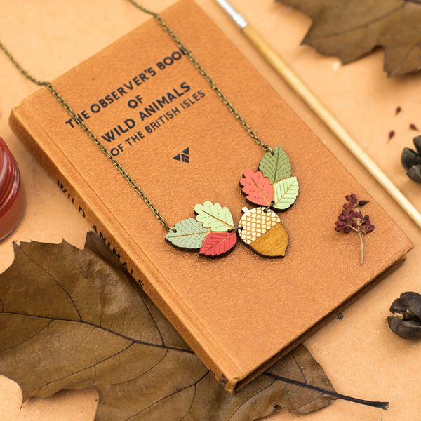 layla amber autumn leaves neckace