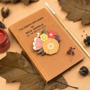 autumn posy brooch