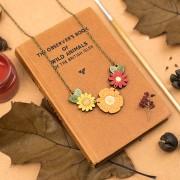 wild autumn flowers necklace