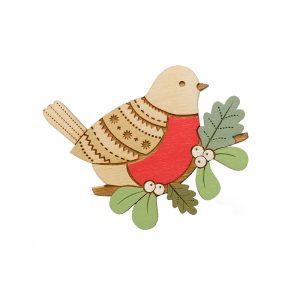 layla amber robin brooch
