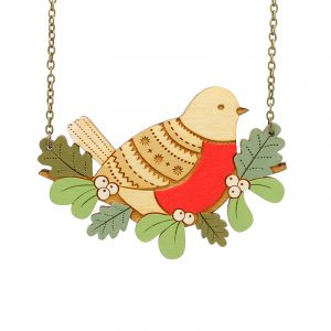 layla amber robin necklace