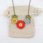 poppy wild necklace
