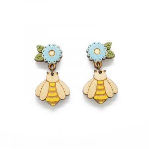layla amber bee earrings