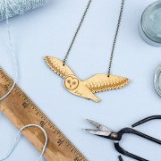 Flying owl necklace 2
