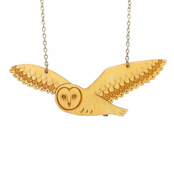 layla amber owl necklace