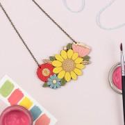 Sunflower Bouquet Necklace 2