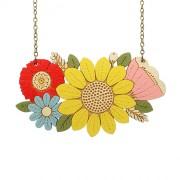 Sunflower Bouquet Necklace_wb