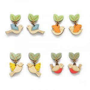 layla amber bird earrings