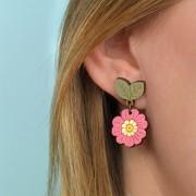 primrose drop earrings wearing