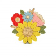 sunflower brooch wb