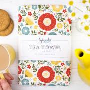 In Bloom tea towel flat lay