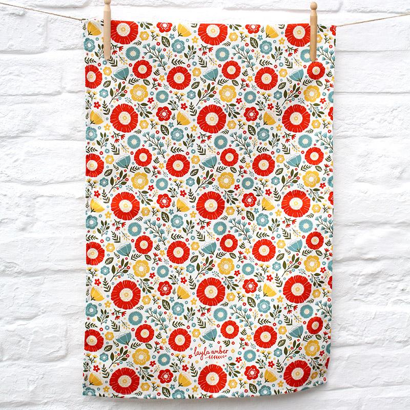 layla amber tea towel
