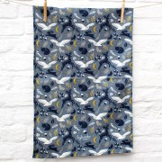 moonlit forest tea towel 2