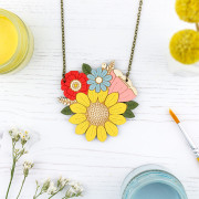 sunflower posy necklace