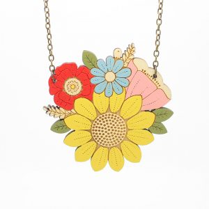 layla amber sunflower necklace