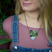 Calathea Necklace Wearing 1