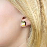 Yellow Pot Earrings