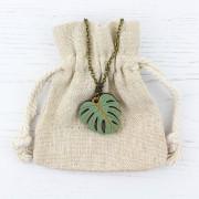Monstera Leaf Necklace 2