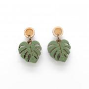 Monsterra Leaf Drop Earrings_wb